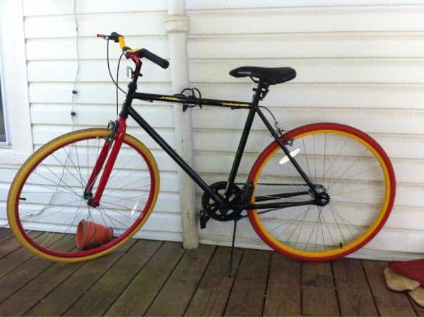 thruster fixie 600c - the prettiest of walmart bikes for men
