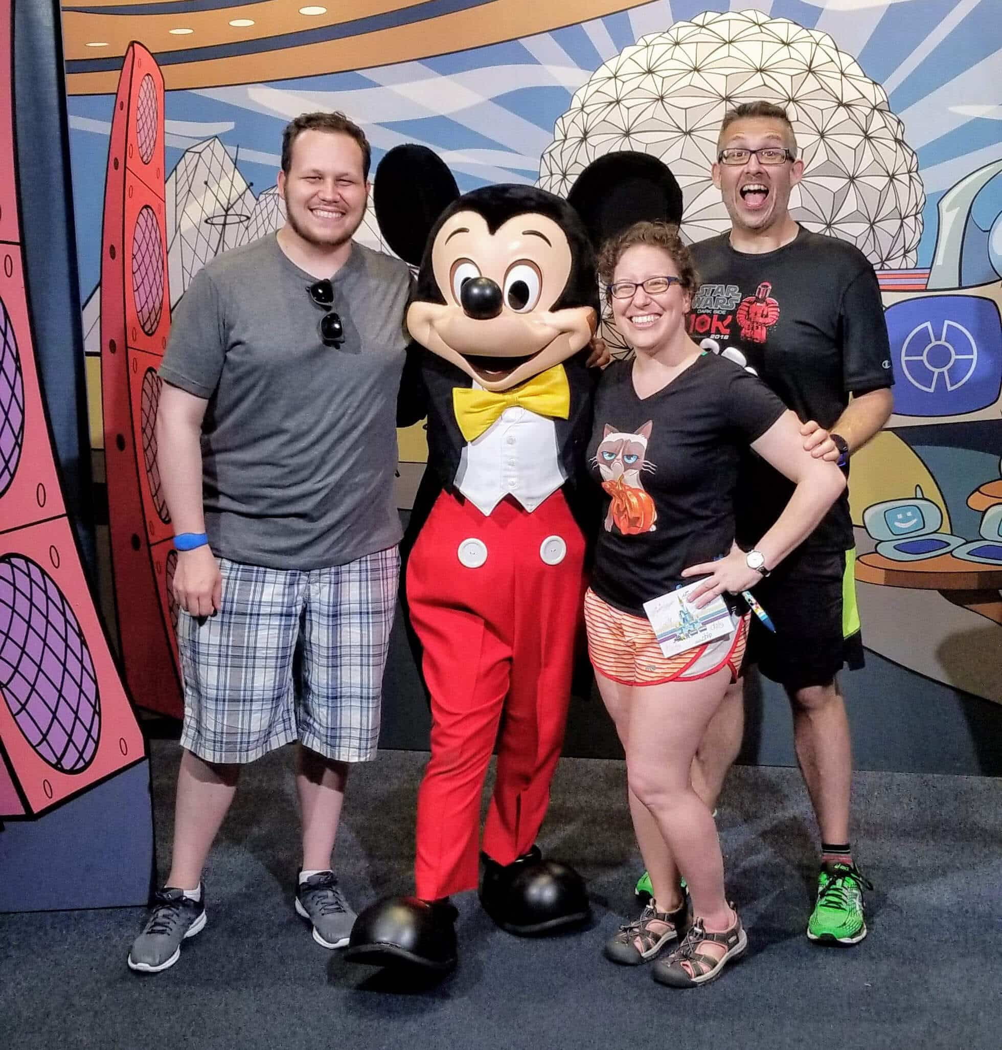 meeting mickey mouse at disney was like meeting a celebrity. It was weird and awesome and I didn't expect that.
