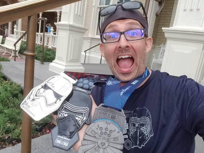 rundisney dark side challenge kessel run medals