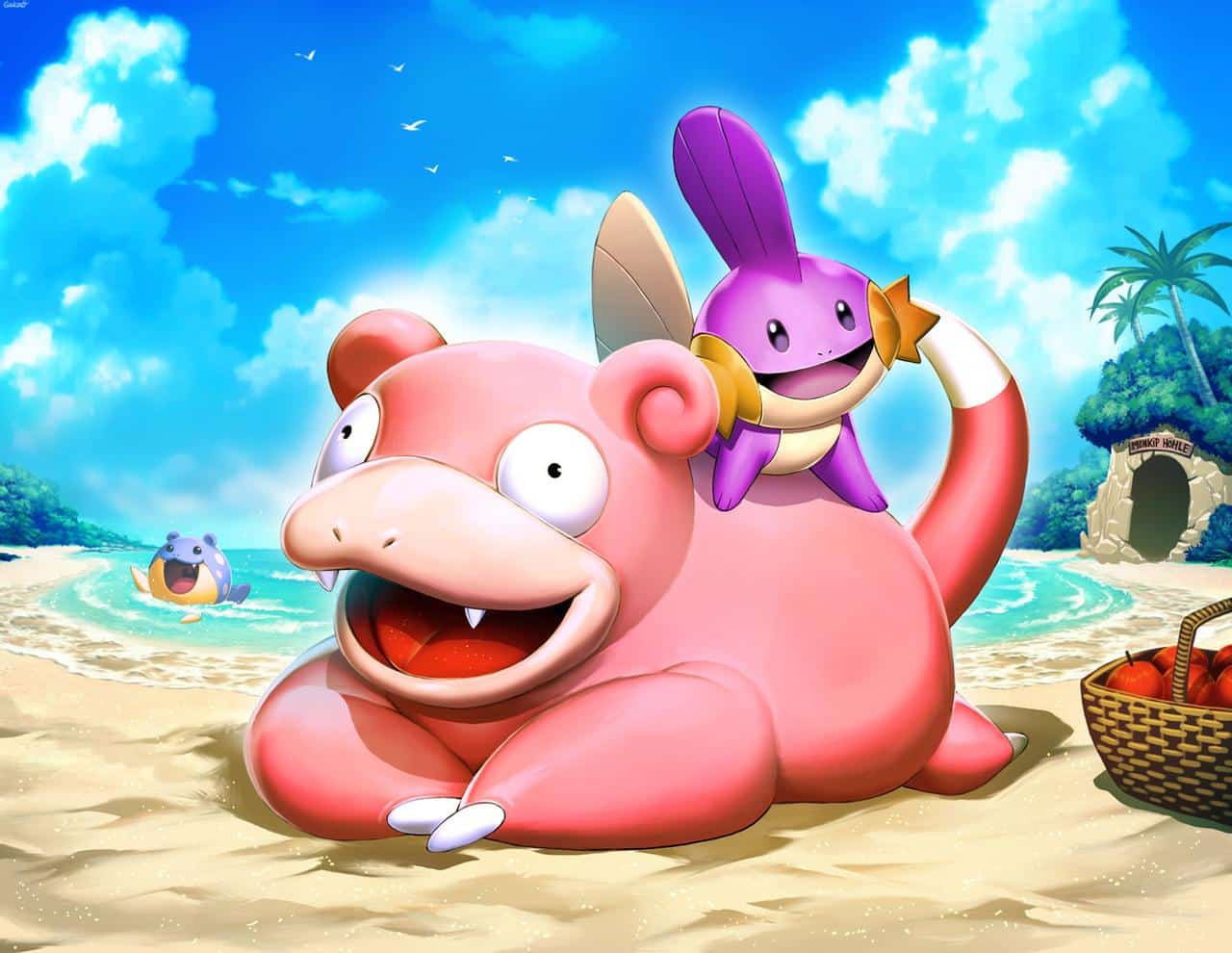slowpoke really doesn't care if he ever learns how to run faster. Mudkip on the other hand...