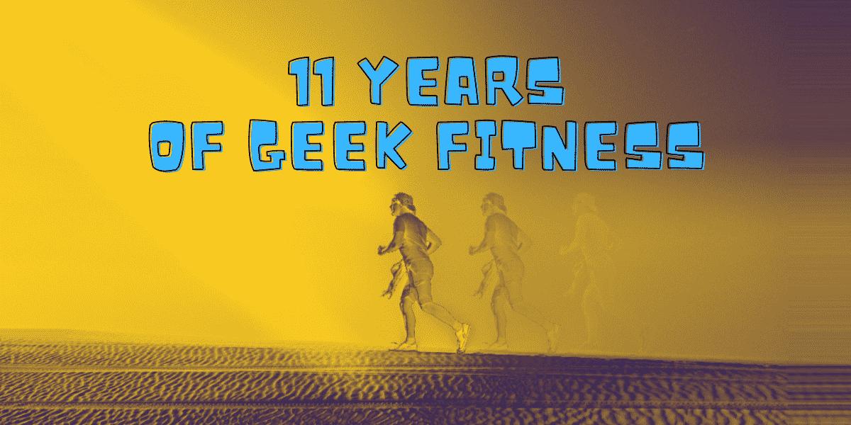 geek fitness anniversary banner